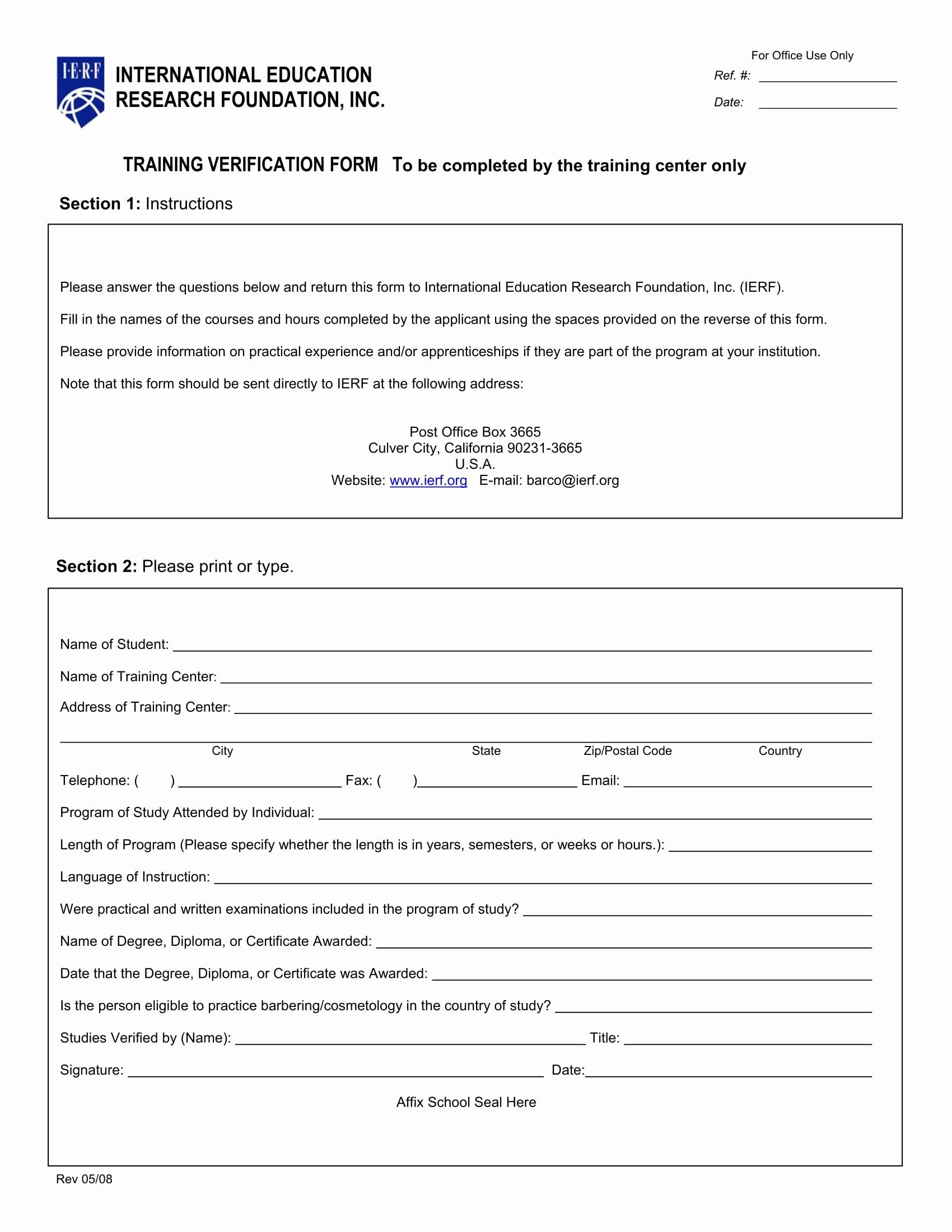 Training Request Form Template Luxury Training Verification Form Samples Definition Uses And Lettering Templates Letter Sample