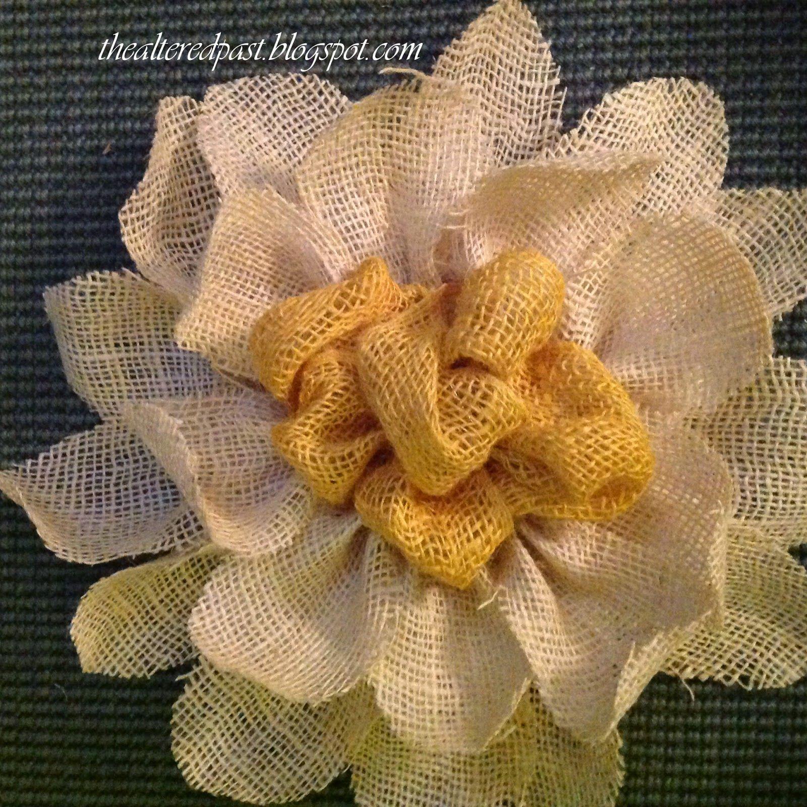 the altered past: Easy Burlap Flower Wall Decor | Beautiful Burlap ...