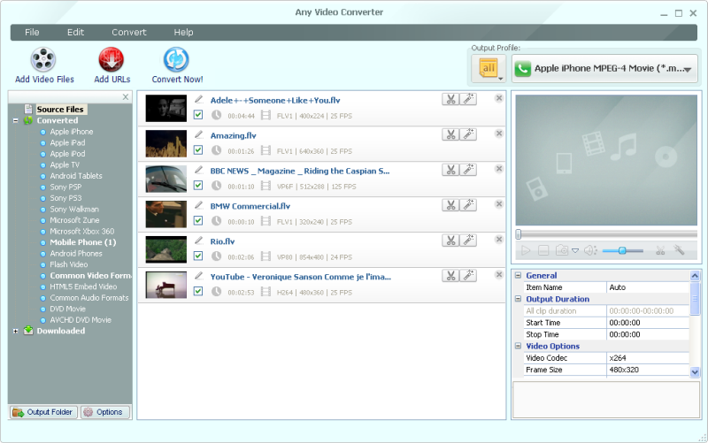 Any Video Converter Free 3 5 2