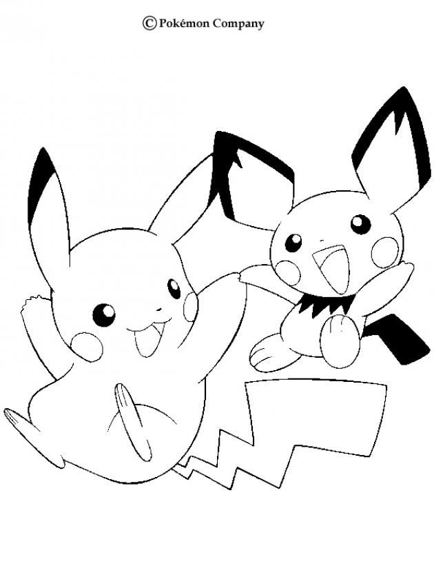 Pikachu And Pichu Pokemon Coloring Page More Pokemon Coloring