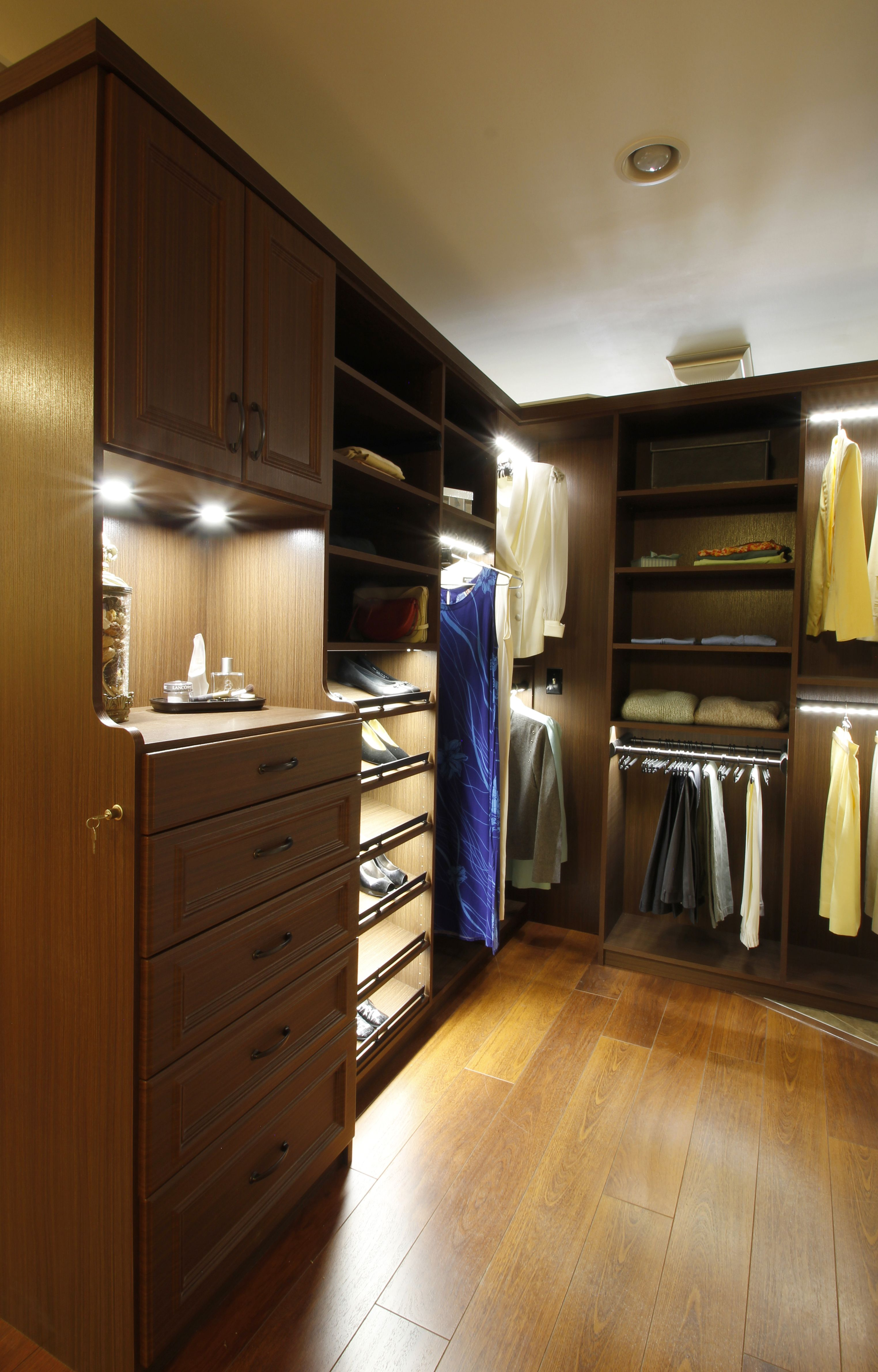 Led Lighting In The Closet Lighted Closet Rods Display Lighting