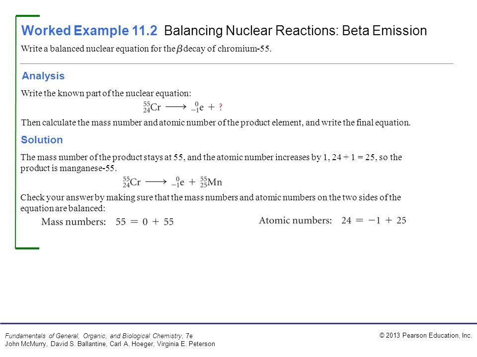 Nuclear Equations Worksheet Answers Balancing Nuclear