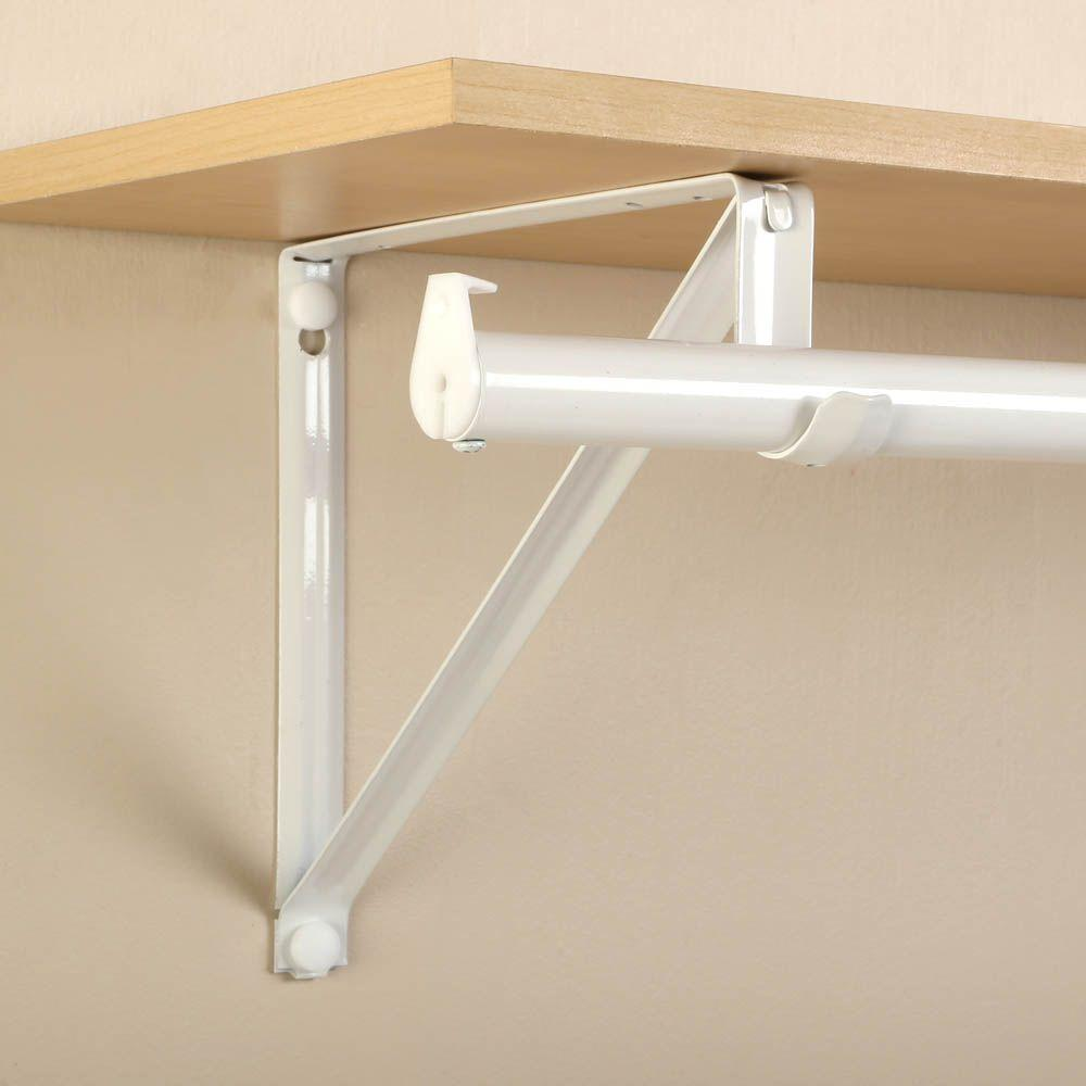 Closet Pro 10 In X 3 4 White Shelf And Rod Bracket Rp 0045 Wt At The Home Depot