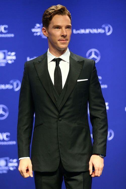 Benedict Cumberbatch looking gorgeous at Laureus Awards