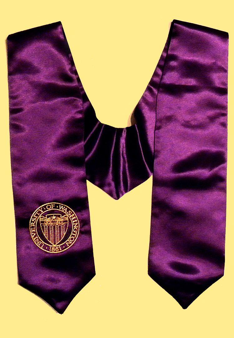 purple graduation   Purple UW Stole of Gratitude   Graduation ...