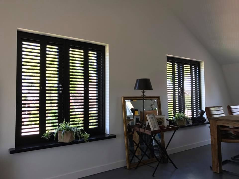 Aluminium shutters fractions window and house