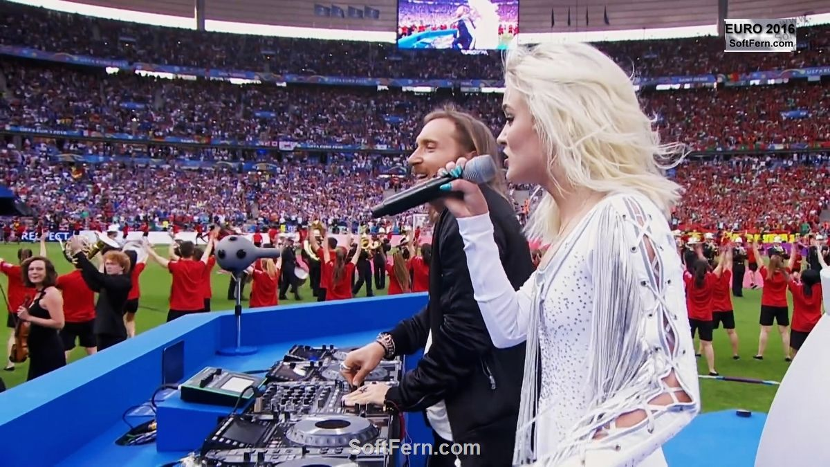 Zara and Guetta Video. Euro 2016 Closing Ceremony David