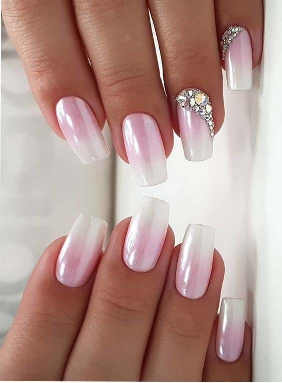 10 Cute Light Pink White Nail Designs For 2018 Pink White Nails Pink Nail Designs Best Nail Art Designs