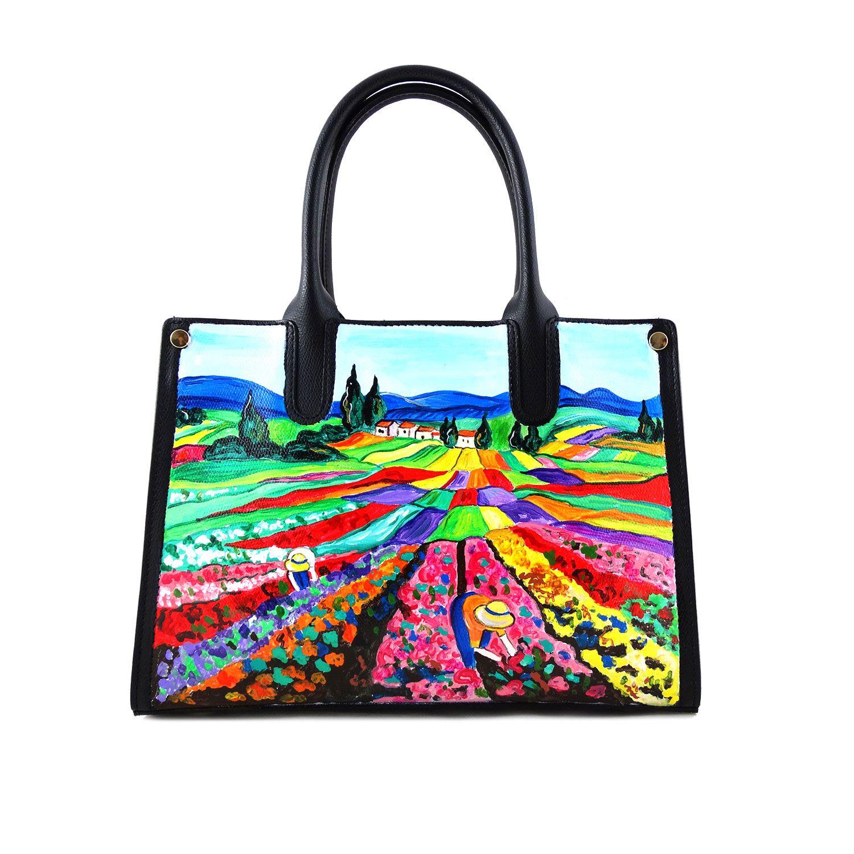 76424804d7 Borsa dipinta a mano – Profumo: è un bouquet floreale, delicata e romantica,