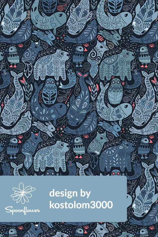 Colorful Fabrics Digitally Printed By Spoonflower Arctic Animals Polar Bear Puffin Whales Seal Owls Bunny Arctic Animals Arctic Flowers Animal Art Projects
