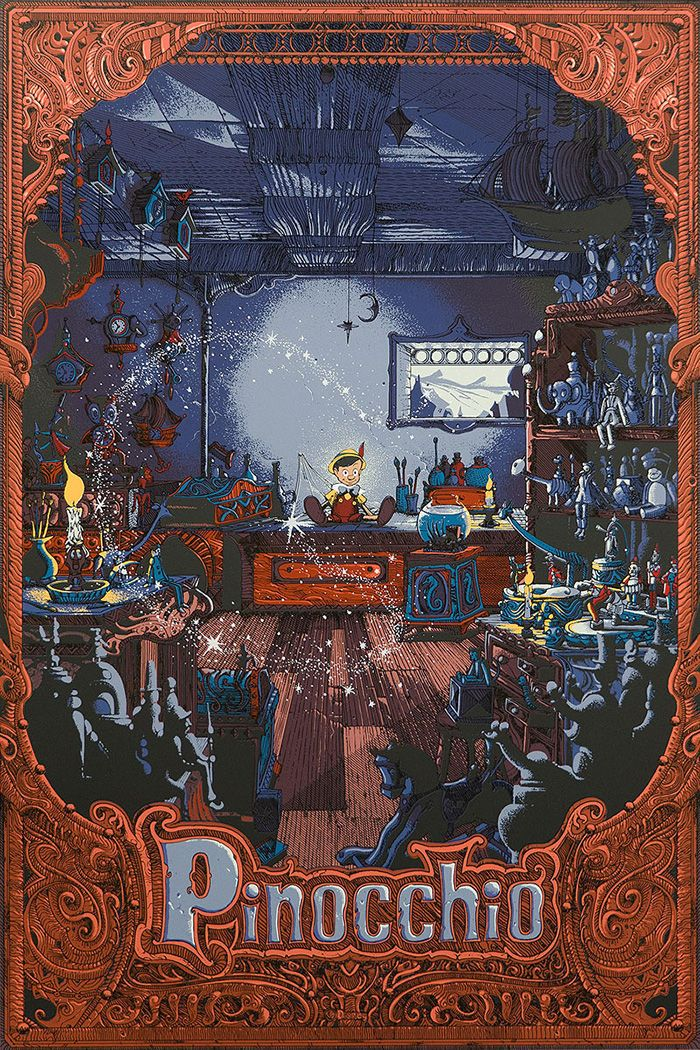Cyclops Print Works Will Sell A New Pinocchio Poster By Kilian Eng Tomorrow Its X Nineteen Color Screenprint Has An Edition Of And Cost