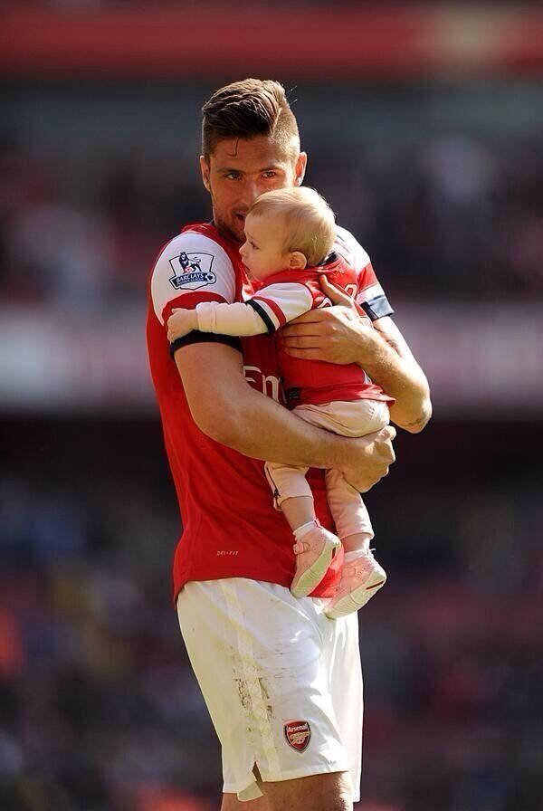 Olivier Giroud And His Daughter