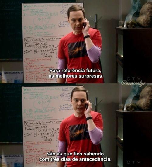 Também Odeio Surpresas Não Planejadas Big Bang Theory