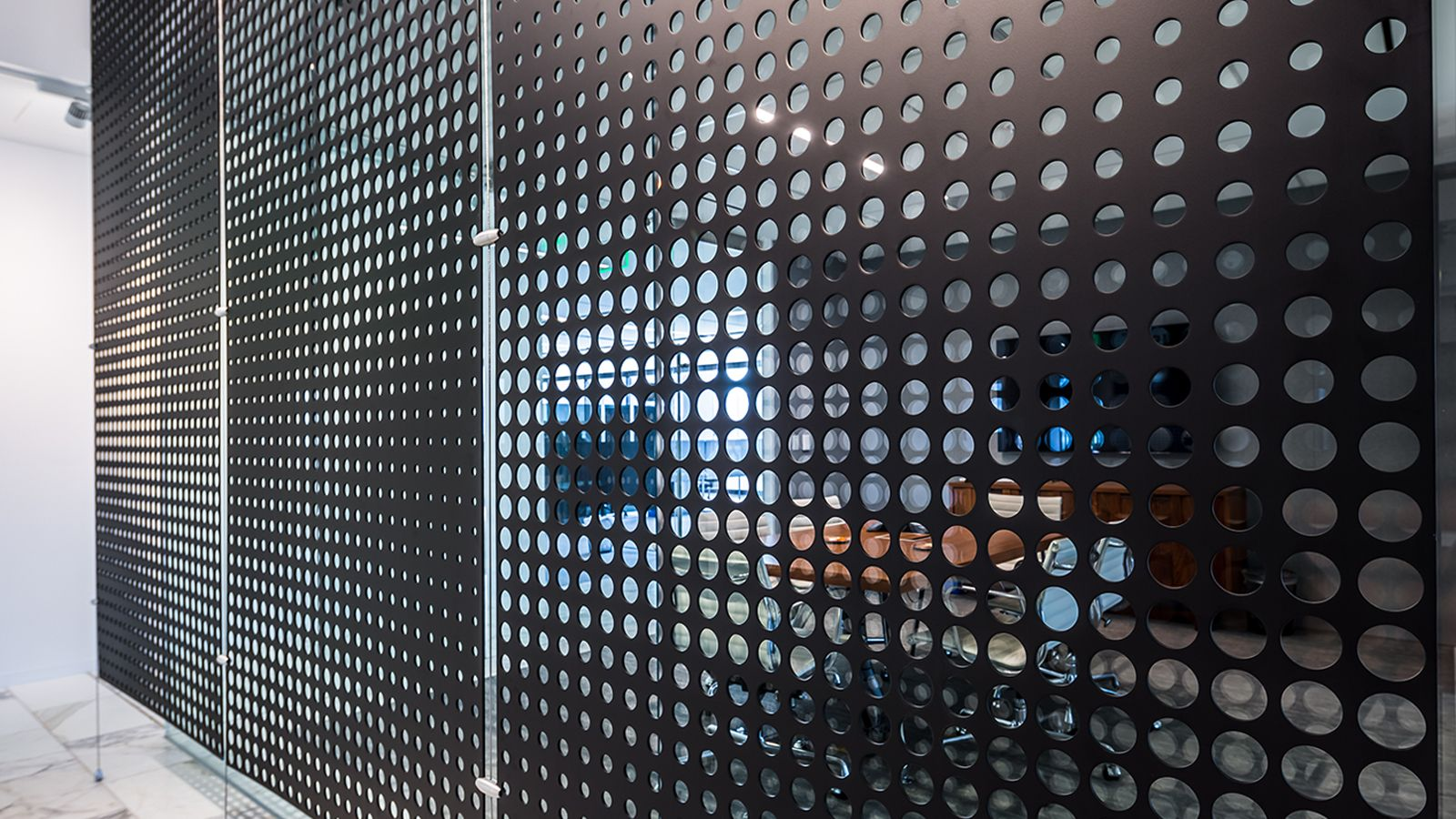 Perforated Metal Sheets Metal Room Divider Metal Wall