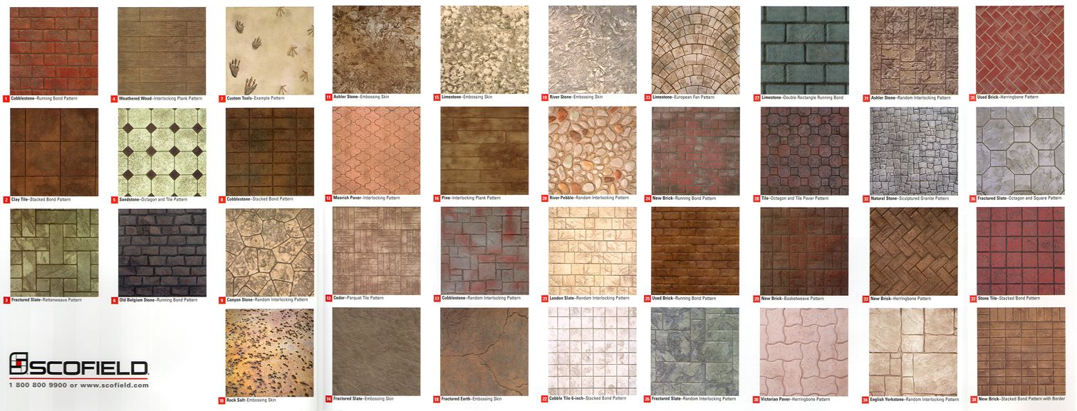 Stampedstained concrete designs patio yard inspiration stampedstained concrete designs geenschuldenfo Image collections