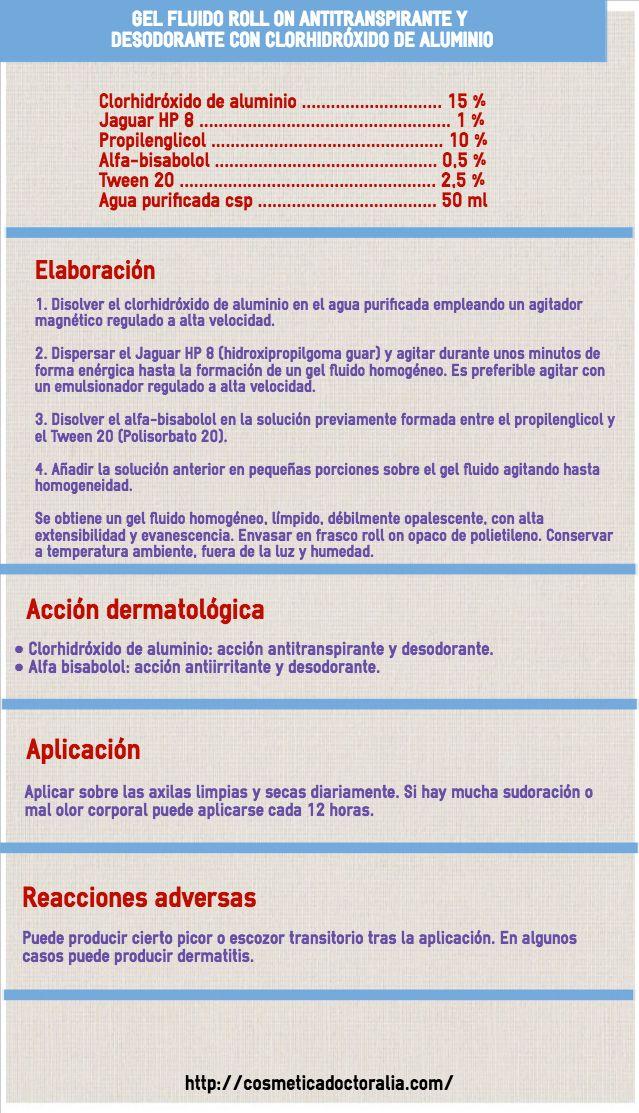 Roll On Antitranspirante Y Desodorante Con Clorhidróxido De Aluminio Desodorante Antitranspirante Sudor Axilas
