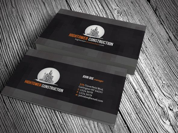 CPCorporateConstructionBusinessCardTemplates Mhd - Construction business card templates download free
