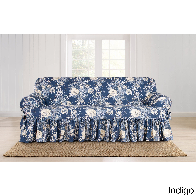 Sure Fit Ballad Bouquet 1 Piece T Cushion Sofa Slipcover Sofa