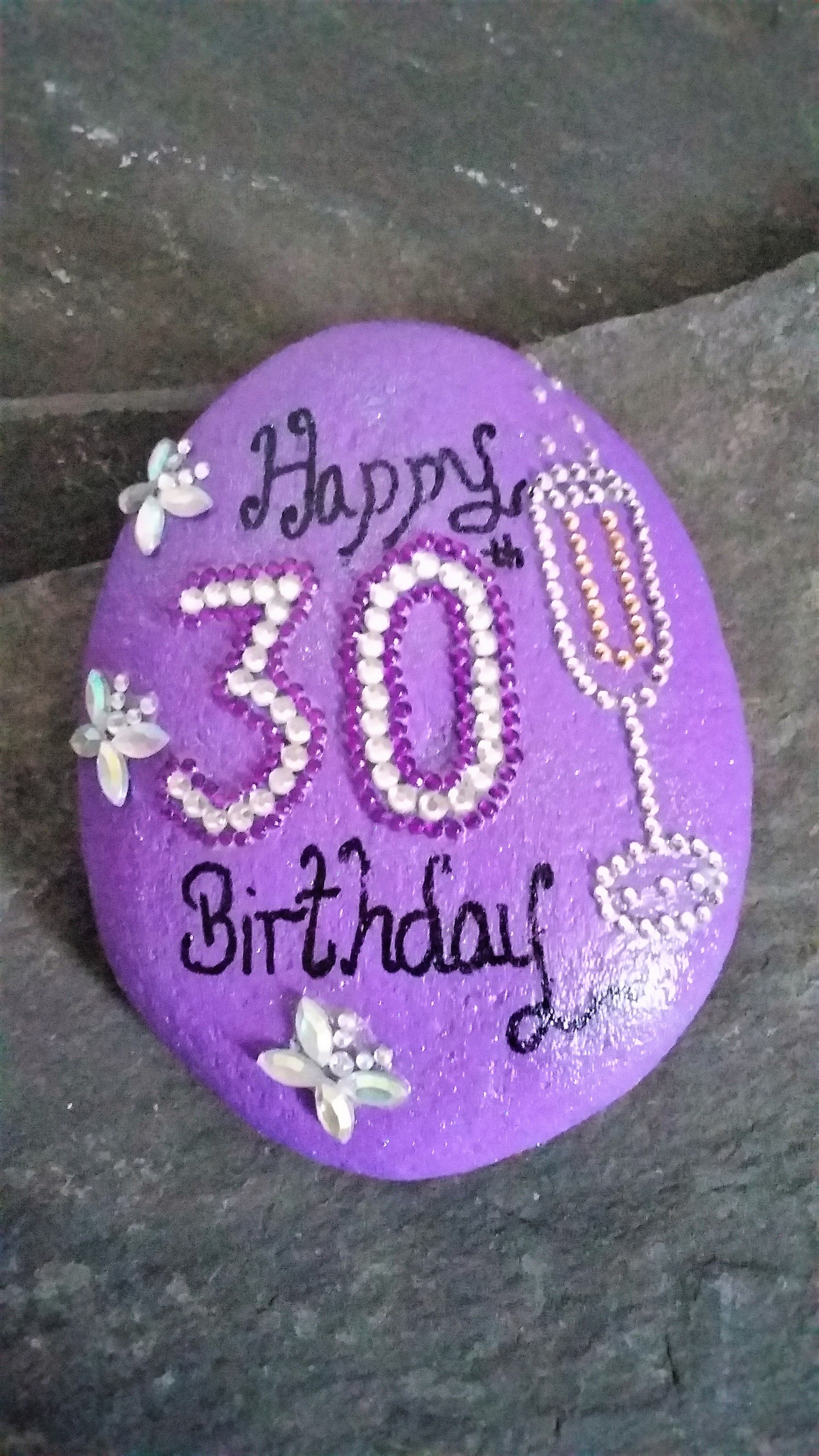 30th Birthday Gift Celebration Stone Keepsake Click Here For More Choice