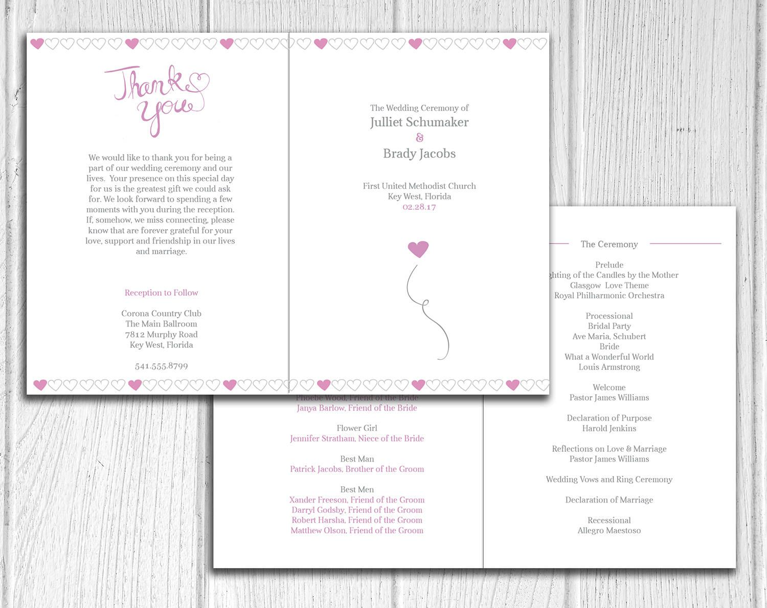 Our Ever After Design Bifold Wedding Ceremony Program Modern Programs By Ivoryisledesigns On Etsy