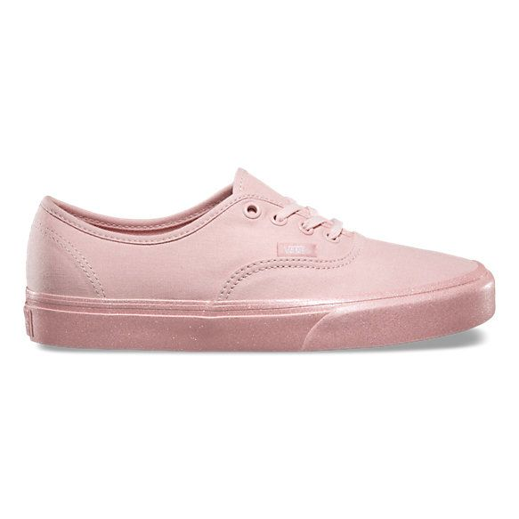 The Metallic Glitter Authentic combines the original and now iconic Vans  low top style with sturdy canvas uppers 76a38d8c077