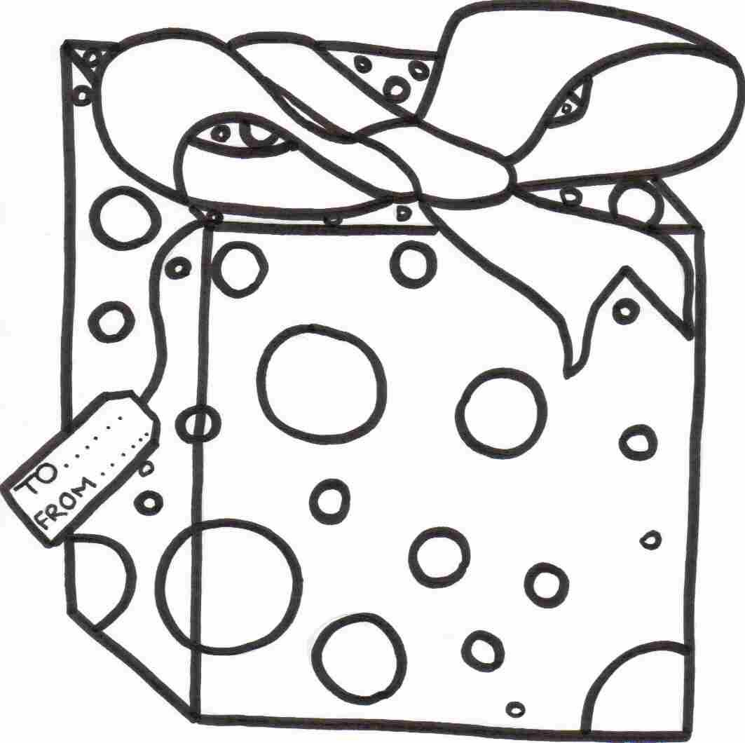Presents Coloring Page