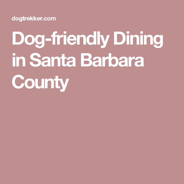 Dog Friendly Dining In Santa Barbara County Santa Barbara County Santa Barbara Dog Friends