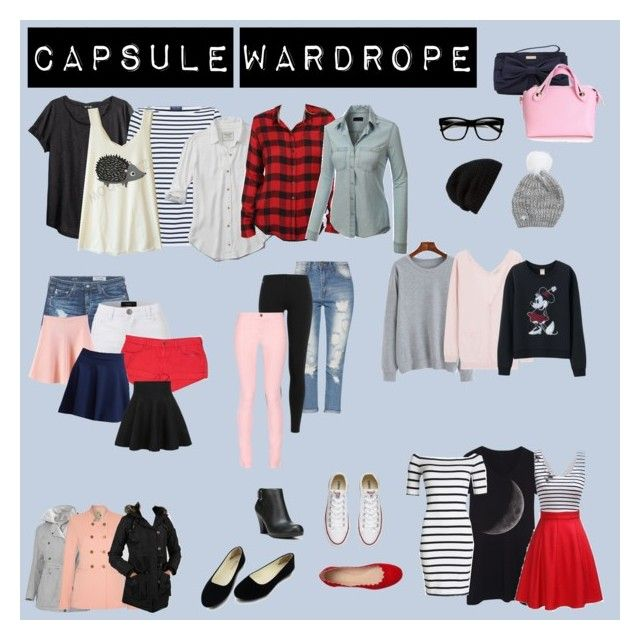 """""""Capsule Wardrobe #1"""" by camisteiger ❤ liked on Polyvore featuring H&M, Saint James, Abercrombie & Fitch, Lucky Brand, LE3NO, Nina Ricci, Uniqlo, Superdry, Polo Ralph Lauren and AG Adriano Goldschmied"""
