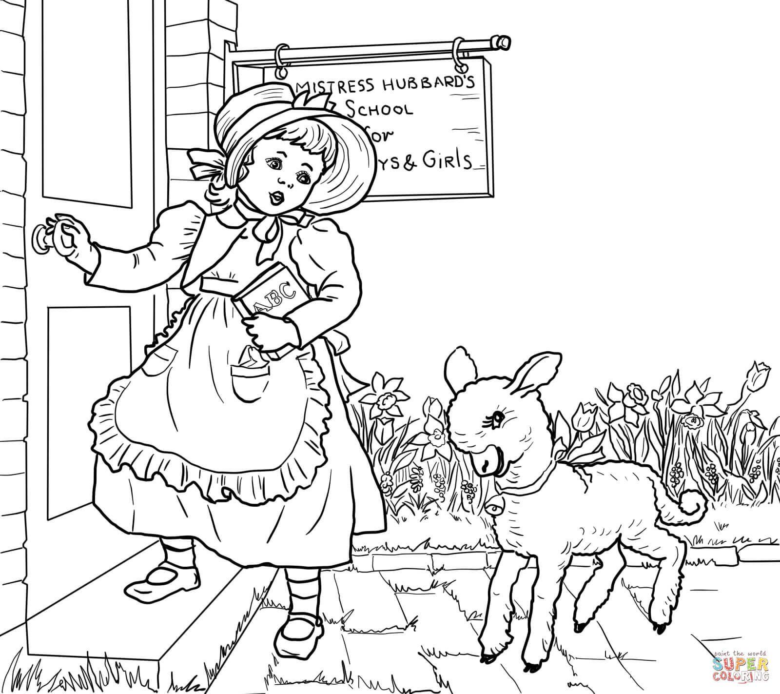 Mary Had a Little Lamb Nursery Rhyme  Nursery rhymes, Lamb