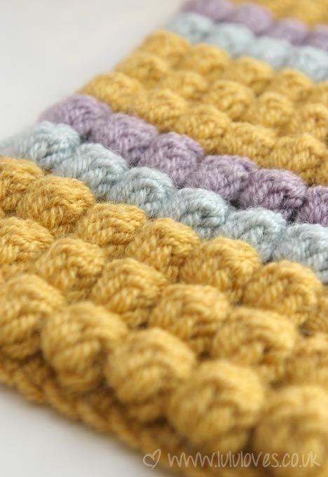 How to Crochet the Bobble Stitch | Textura, Tejido y Muestras de crochet