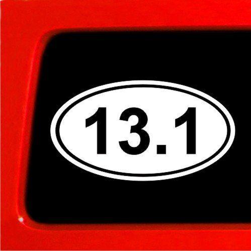 13 1 marathon sticker euro oval car bumper deal window sticker connection