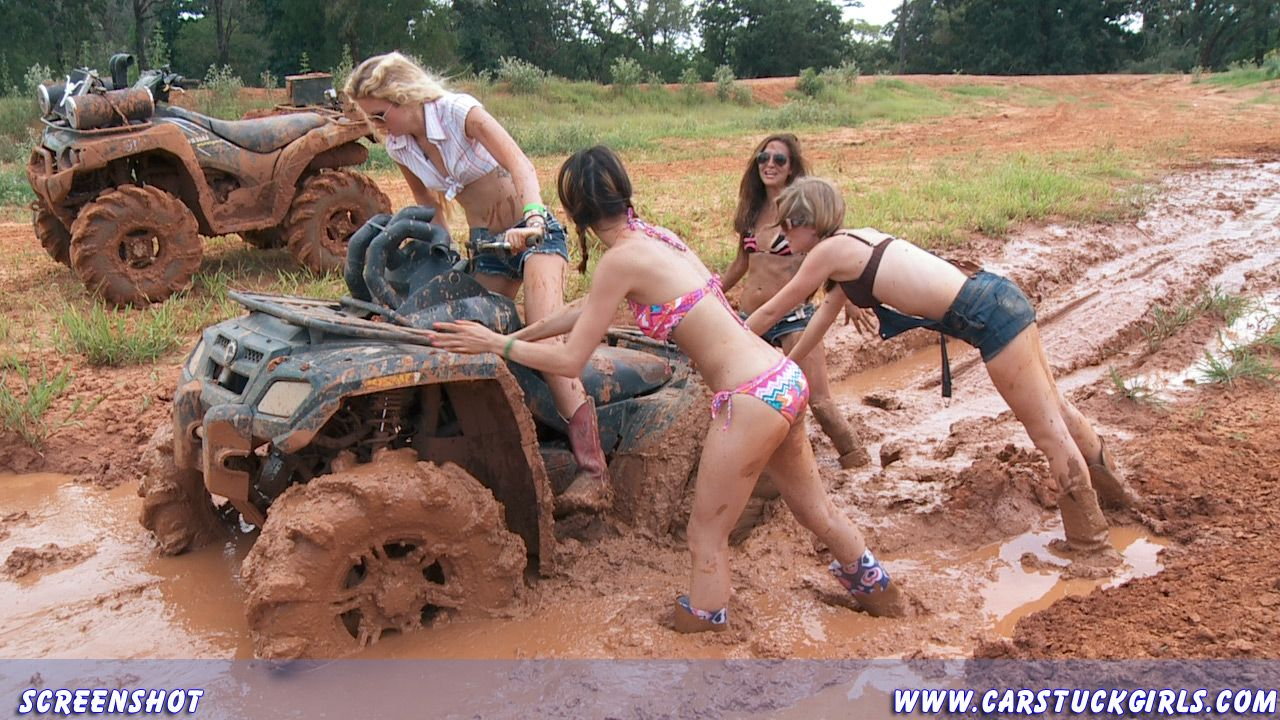 Naked country girls in the mud will not