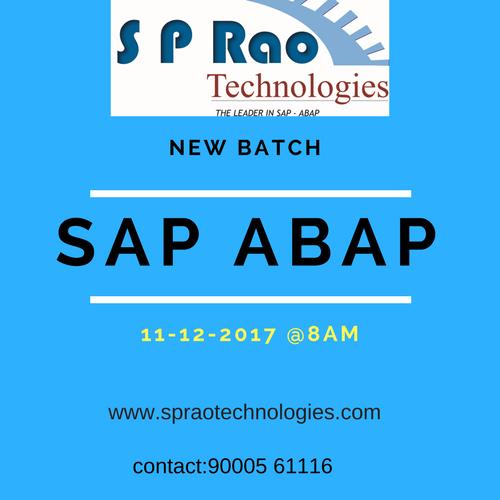 SP RAO Technologies   Best SAP ABAP Institute in Hyderabad