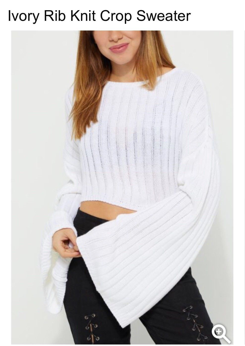 Flannel cardigan womens  NWT Womens Misses SWEATER TOP size M Long bell sleeve KNIT white