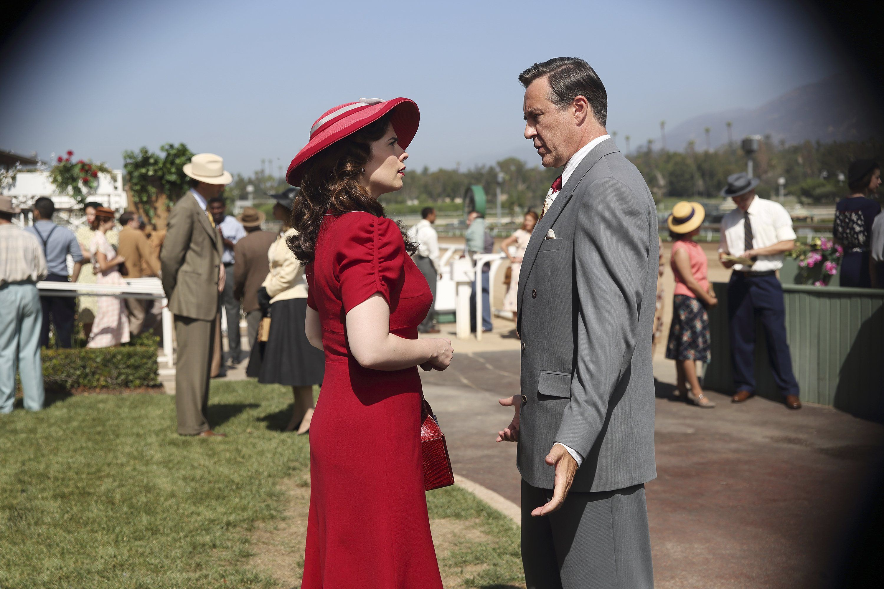 Agent Carter, lady in red.