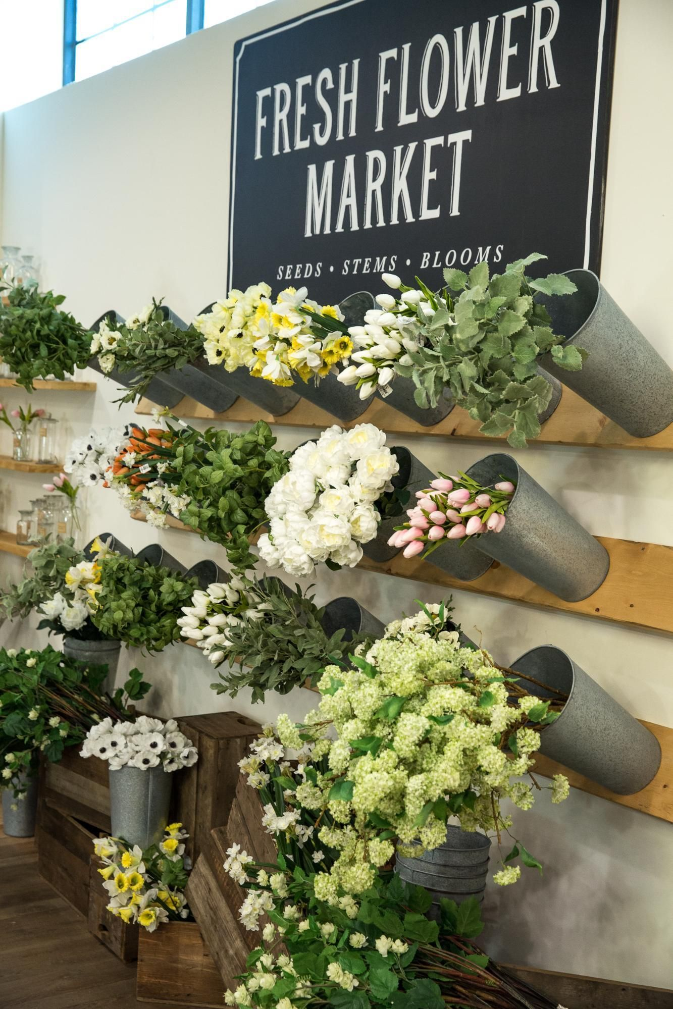 Spring Installation Booths Flower Shop Decor Flower Shop Design