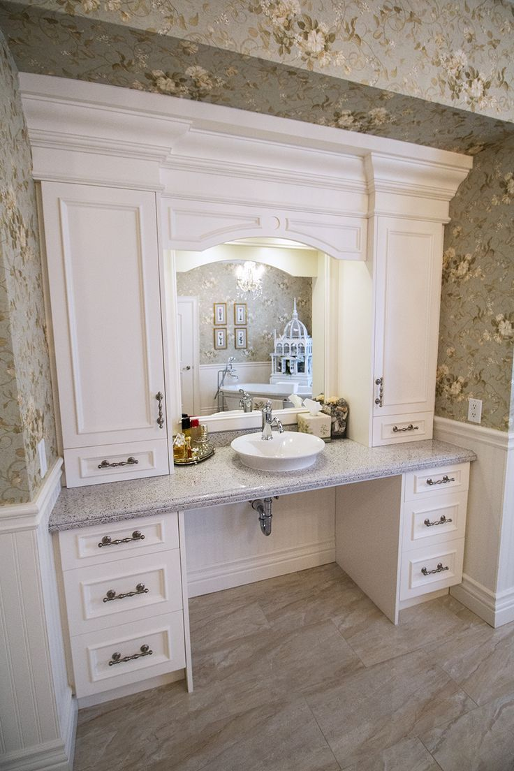 Custom built bathroom vanity and storage. (wheelchair accessible ...