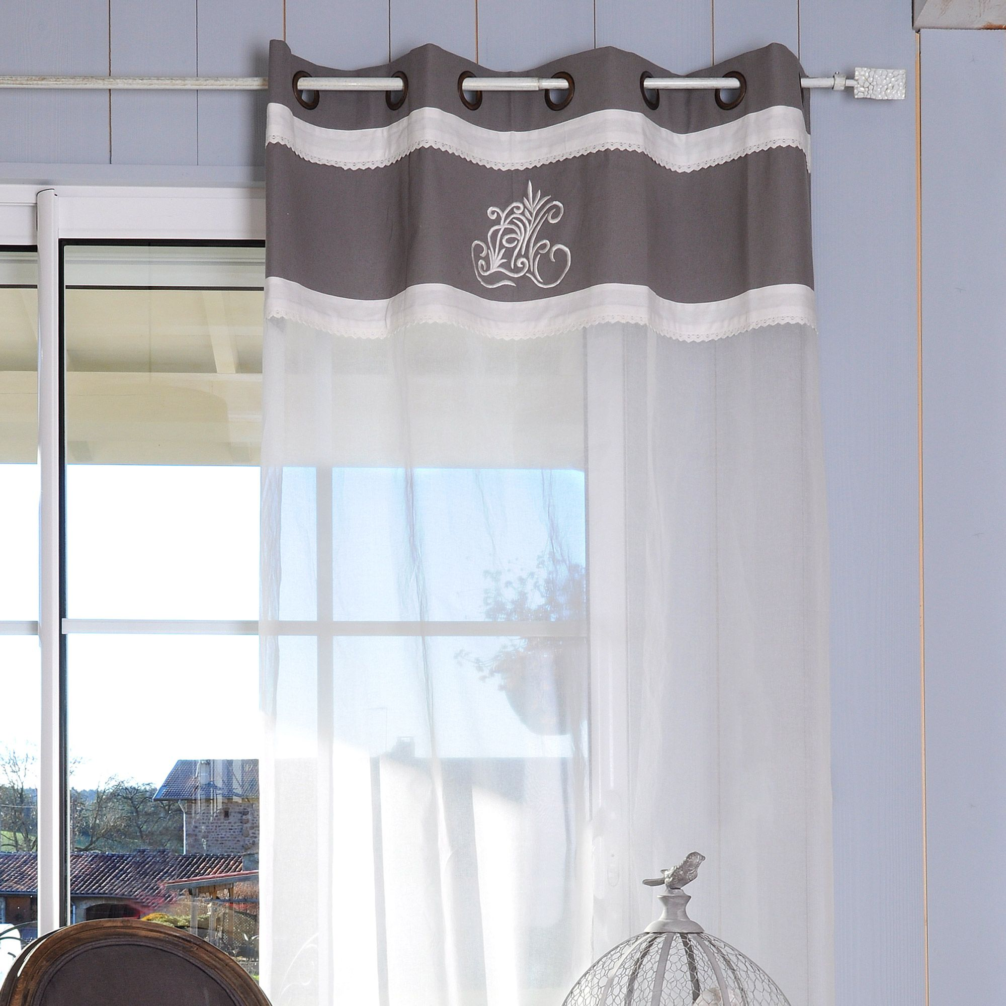 window of farmhouse willow do solid tab button set chambray curtain branch curtains xxx product