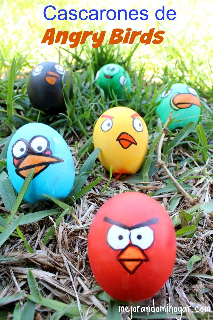 Como pintar huevos de Pascua de Angry Birds | Cascarones, Angry ...