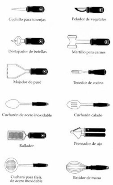 utencilios de cocina clases cocina pinterest cocinas