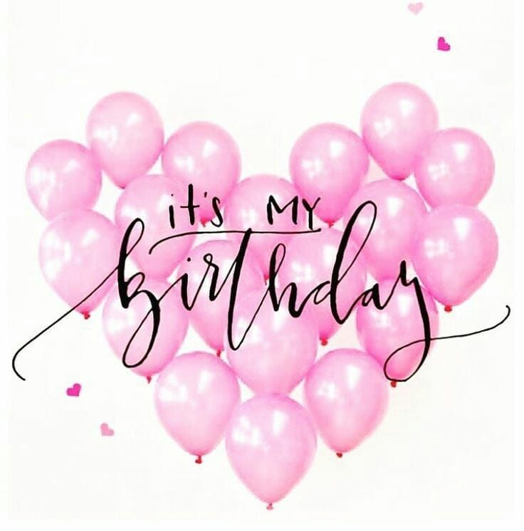 "Melo Leticia | Blog on Instagram: ""It is my party and I cry if I want... My birthday is coming i'm so happy Thank god! #itismybirthday #mybday #24 #pink #ballons"