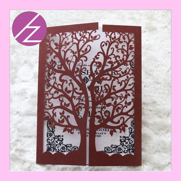 Aliexpress 12pcs Lot Wedding Party Decoration Paper Craft Laser Cut Love Tree Invitationswedding