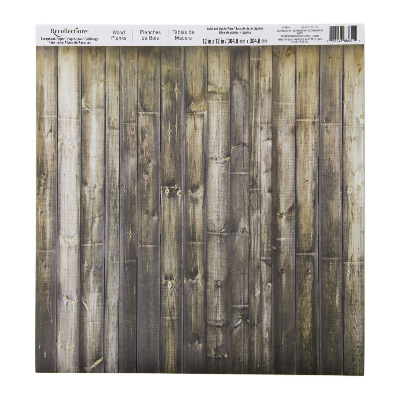 Wood Planks Scrapbook Paper by Recollections®