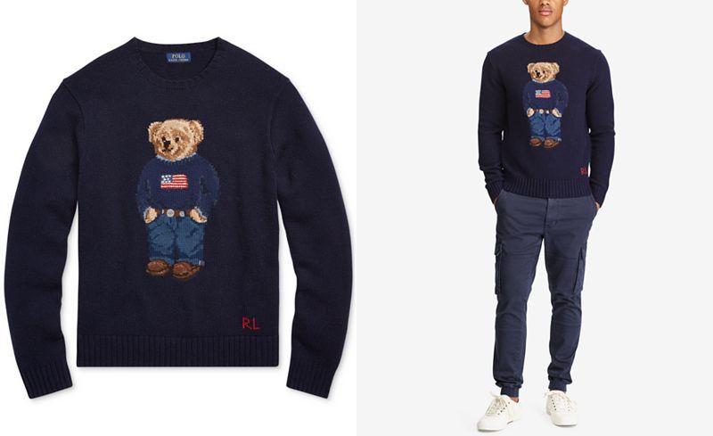Polo Ralph Lauren Mens Iconic Bear Sweater