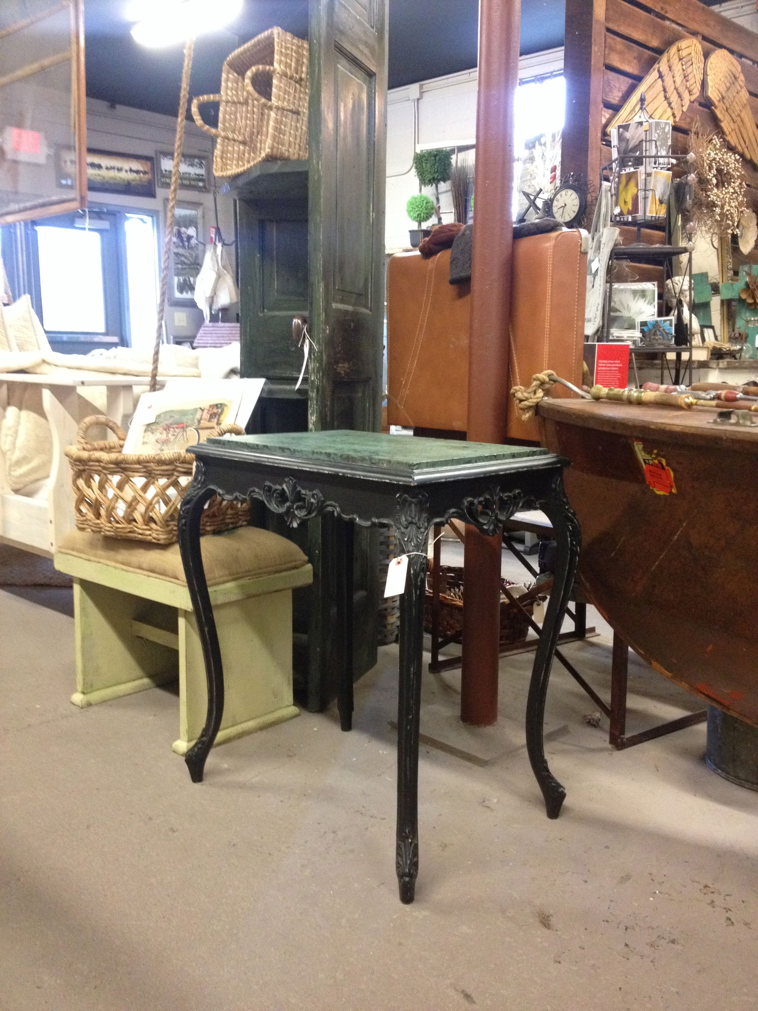 End Table with Handmade Decorative Concrete $125