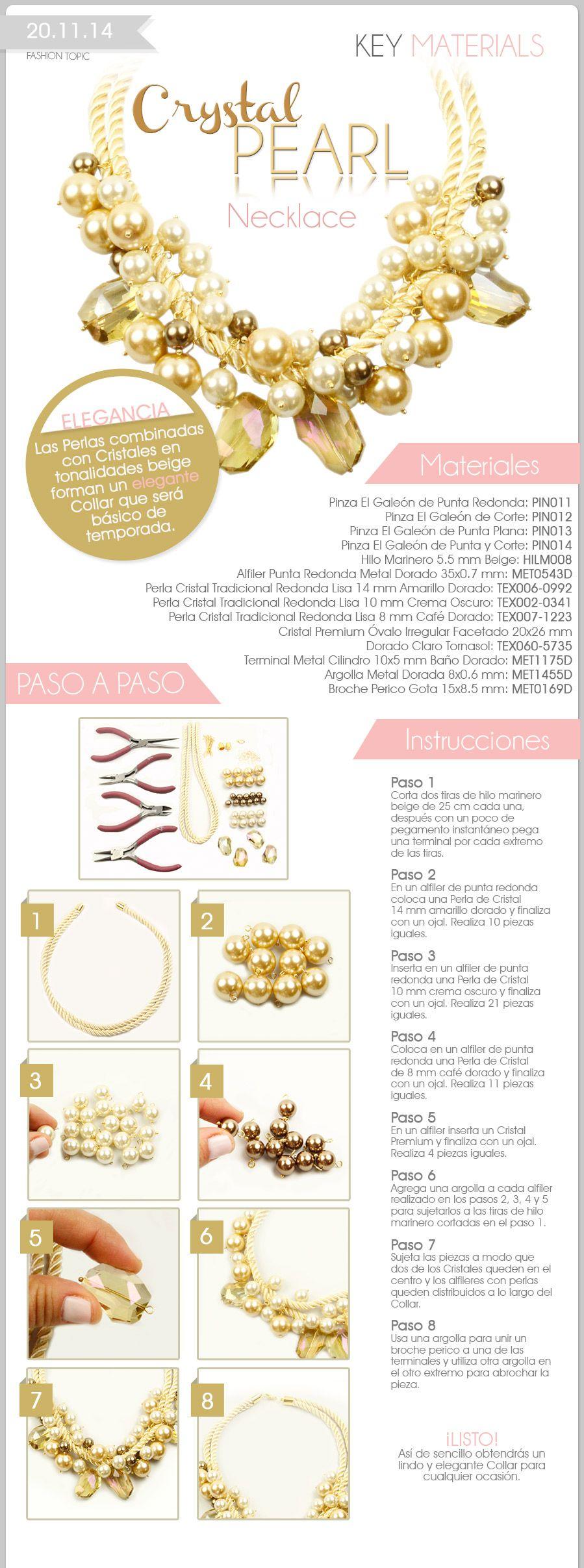 Fashion Topic Key Materials Crystal Pearl Necklace  Encuentra aquí el video…