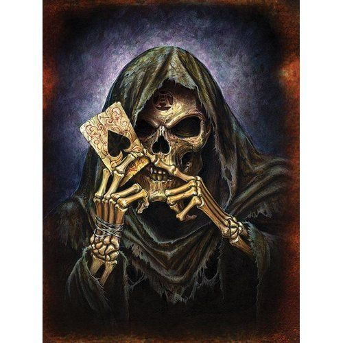 His Death Gothic Art Print