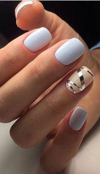 cute blue nail art design nails