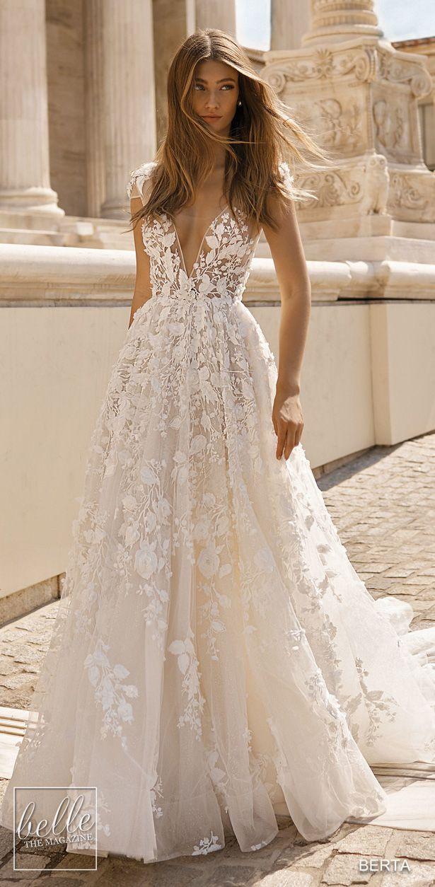 BERTA Wedding Dresses 2019 - Athens Bridal Collection. Sleeveless ball gown wedd #tulleballgown