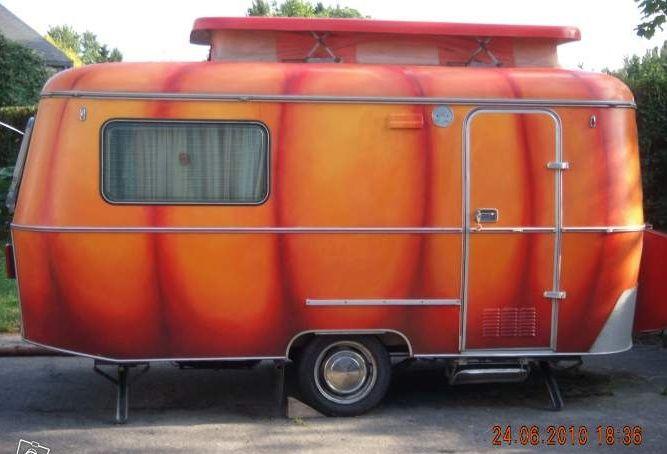 Caravane Eriba décorée en citrouille d\'Halloween | Caravanes d ...